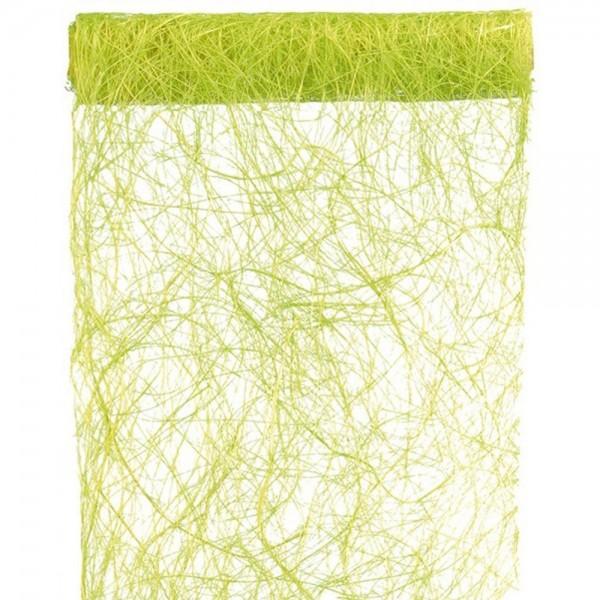 Tischband BREIT Abaca-Faser grün, 30 cm x 5 Meter Rolle