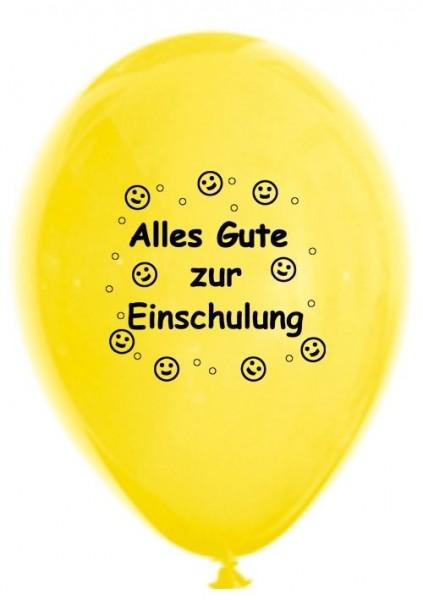 Luftballons Einschulung, bunt, 30 cm, 10 St.