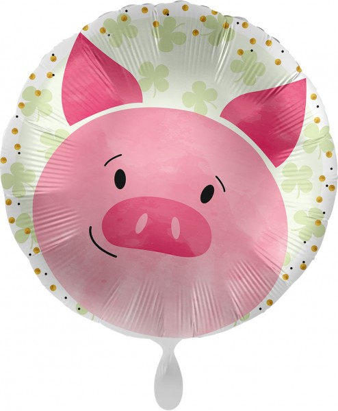 Ballongruß XL: Dickes Glücksschwein, ca. 70 cm