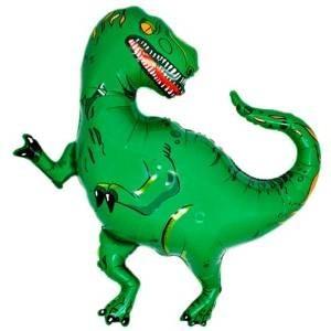 Ballongruß: Dinosaurier grün, ca. 80 cm
