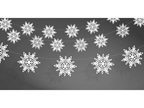 Girlande Schneeflocken weiß, ca. 1,5 Meter