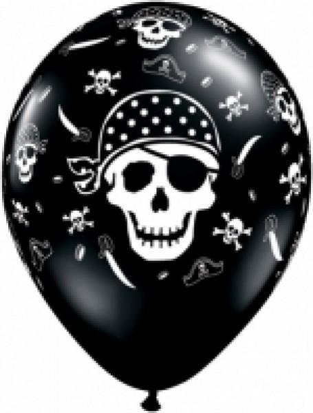 5 Ballons Pirat, Qualatex, ca. 30 cm