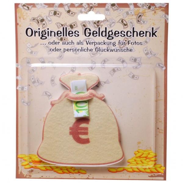 Geldsack Filz für z.B. Geldgeschenk, ca. 11x10 cm