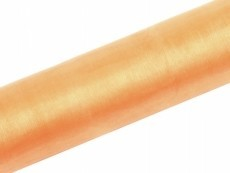 Organza, ca. 36 cm x 9 Meter Rolle, apricot
