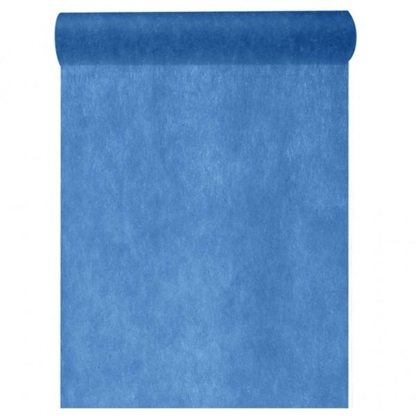 Tischband BREIT Vlies blau, 30 cm x 10 Meter Rolle