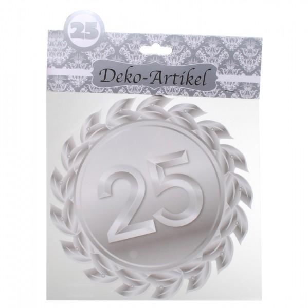 Dekoschild 25 Silberhochzeit, ca. 20 cm