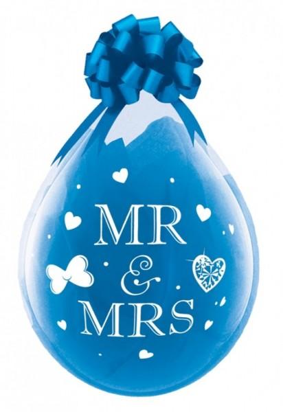 Mr. & Mrs. Verpackungsballon, transparent, Qualatex, ca. 45 cm