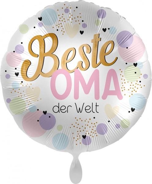 Ballongruß: Beste Oma der Welt, ca. 45 cm