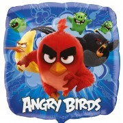 Folienballon Angry Birds, eckig, ca. 45 cm