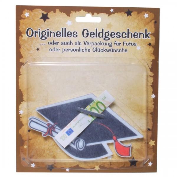 Studentenhut Filz für z.B. Geldgeschenk, ca. 8x14 cm