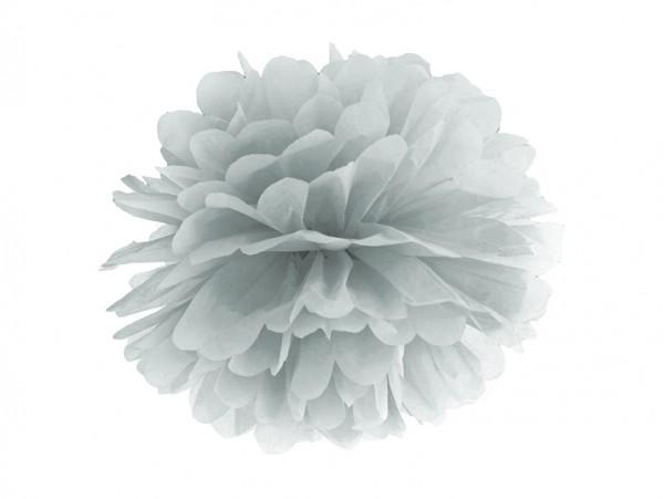 Pompom silber, 25 cm, 1 St.