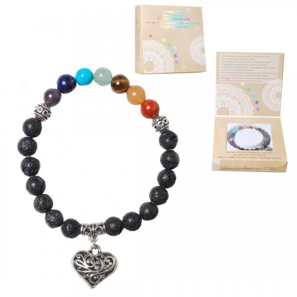 Chakren-Armband im Geschenkkarton, Einheitsgröße