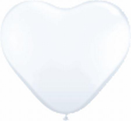 Herzballons, ca. 30 cm, weiß