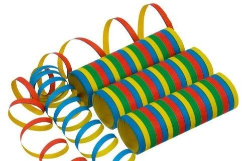 Luftschlangen Standard, 72 Rollen