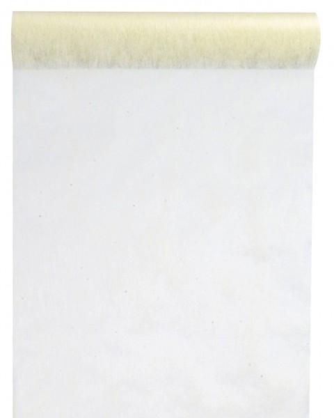 Tischband BREIT Vlies champagner, 30 cm x 10 Meter Rolle