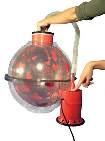 Ballonverpackungskugel, inkl. Kompressor, Handpumpe, Spreizzange