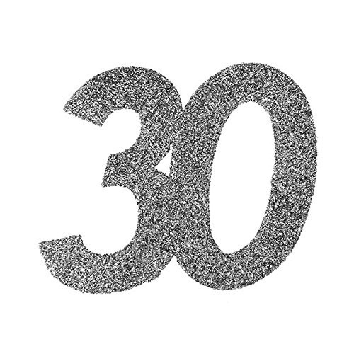 Streudeko 30 Glitter silber, ca. 6x5 cm, 6 St.