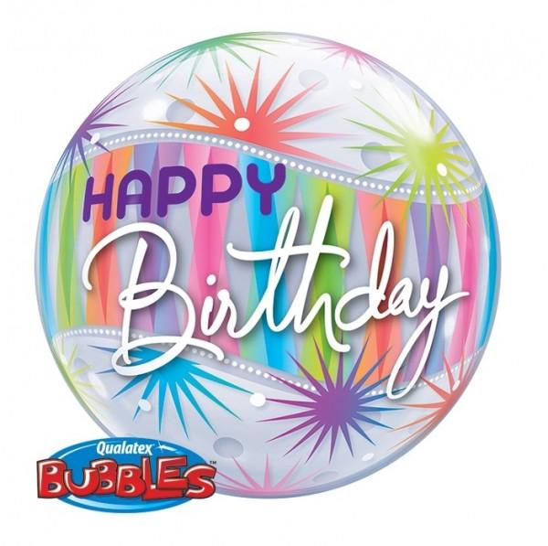 Bubble Happy Birthday, Sorbet, ca. 56 cm