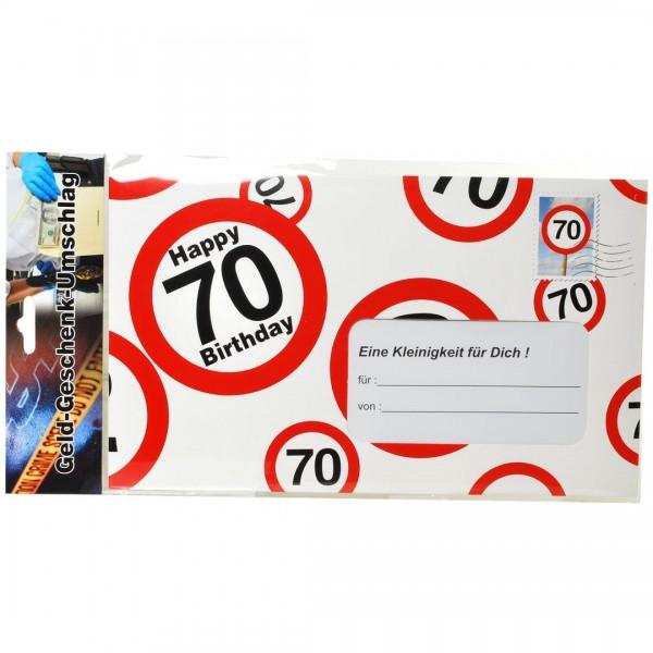 Riesen-Umschlag 70 Verkehrsschilder, ca. 18 x 30 cm