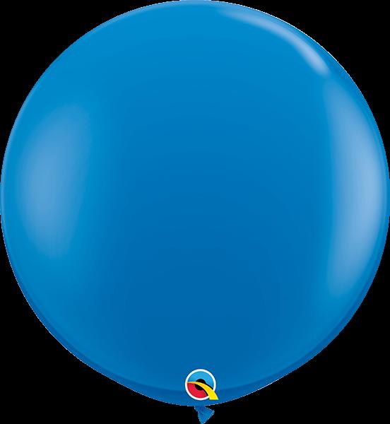 Riesenballon Qualatex, ca. 90 cm, blue/blau