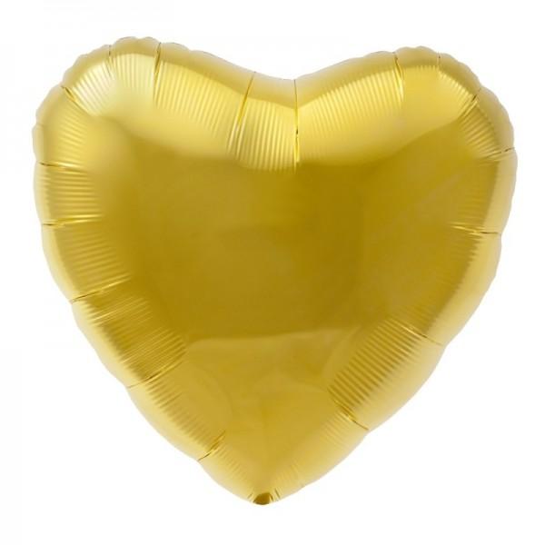 Mini-Folienherz gold, luftgefüllt, ca. 10 cm