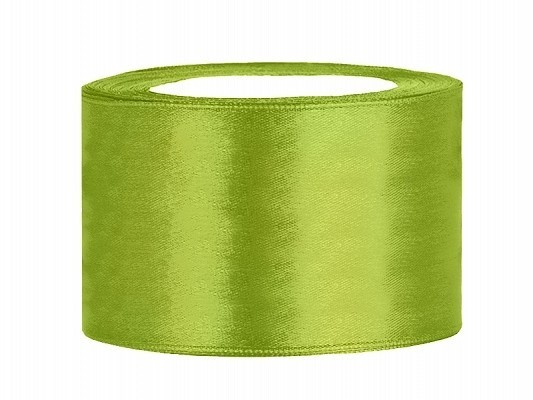 Satinband 3,8 cm x 25 Meter Rolle hellgrün