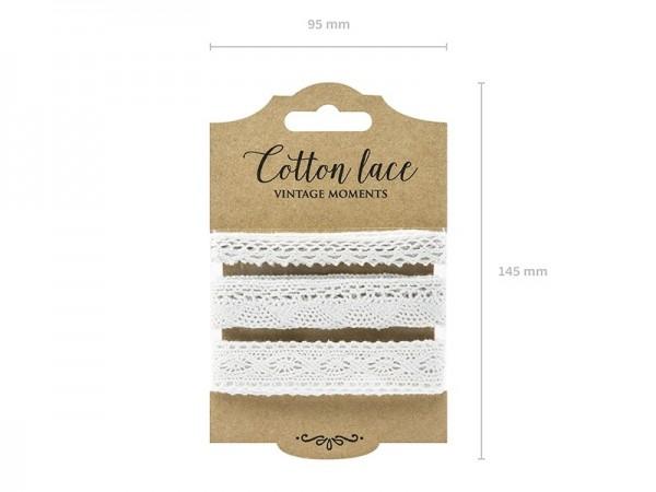 Geschenkband Spitze Weiß, 3 x 1,5 M.