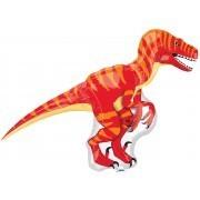 Ballongruß: Dinosaurier rot/orange, ca. 80 cm