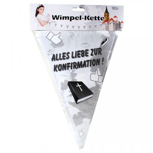 Wimpelkette Alles Liebe zur Konfirmation, ca. 10 Meter