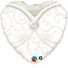 Ballongruß: Herz Braut, ca. 45 cm