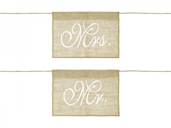 Stuhl Deko Mr & Mrs Jute Natur, ca. 30x21,5 cm, 2 St.