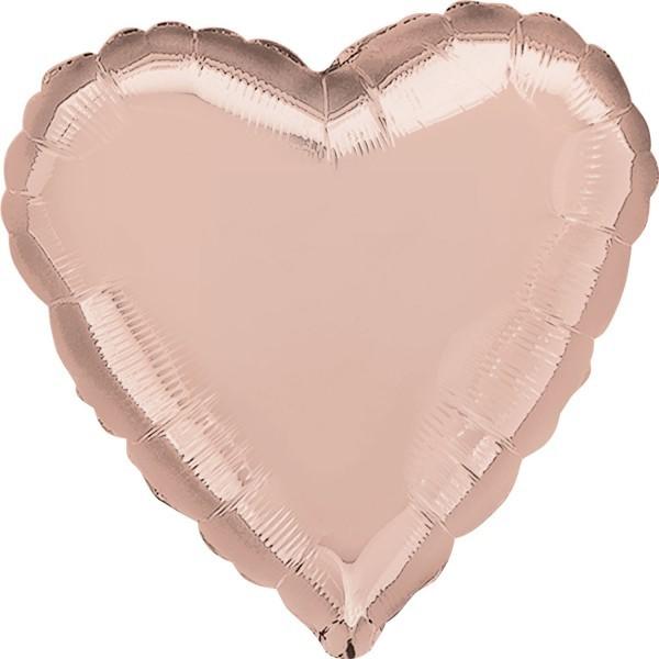 Ballongruß: Herz, rose gold, ca. 60 cm