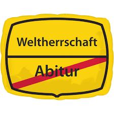 Folienballon Abitur/Weltherrschaft, ca. 43x30 cm