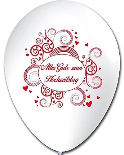 10 Luftballons Alles Gute zum Hochzeitstag, ca. 30 cm