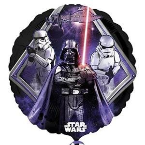 Ballongruß: Star Wars, schwarz/lila, ca. 45 cm