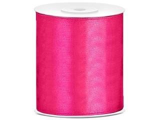 Tischband Satinband 10 cm x 25 Meter Rolle pink