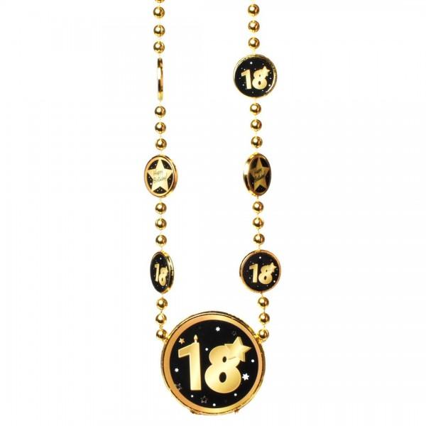 Kette 18 schwarz/gold