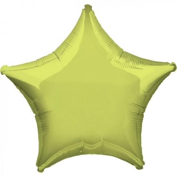 Folienstern hellgrün, ca. 45 cm
