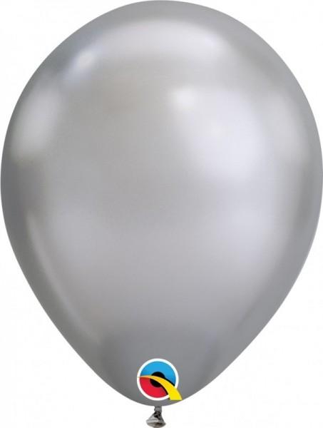 """100 Ballons Qualatex 7"""", Chrome silber"""