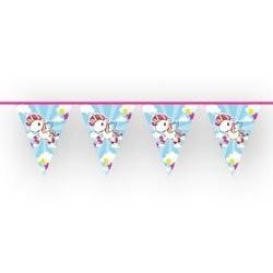 Wimpelkette Einhorn, pink/bunt, 10 Meter