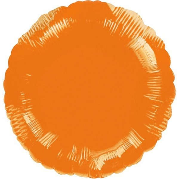 Folienballon rund orange, ca. 45 cm