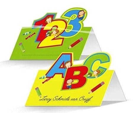 Tischkarten ABC 123, 24 St.