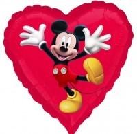 Ballongruß: Mickey Mouse, Herz, ca. 45 cm