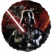 Folienballon Star Wars, schwarz/rot, ca. 45 cm