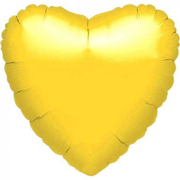 Folienherz gelb, ca. 45 cm