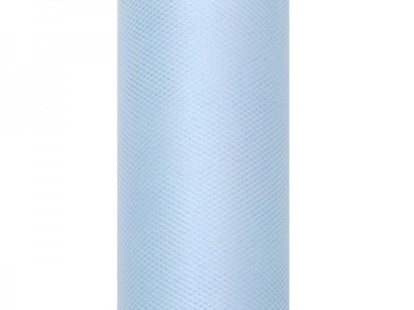 Tüll HELLBLAU, 30 cm Breite, 9 Meter Rolle