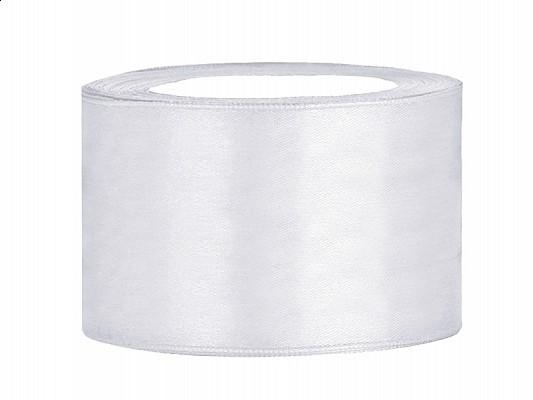 Satinband 3,8 cm x 25 Meter Rolle weiß
