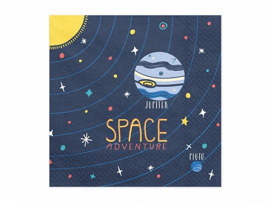 Servietten Space Party, ca. 33x33 cm, 20 St.