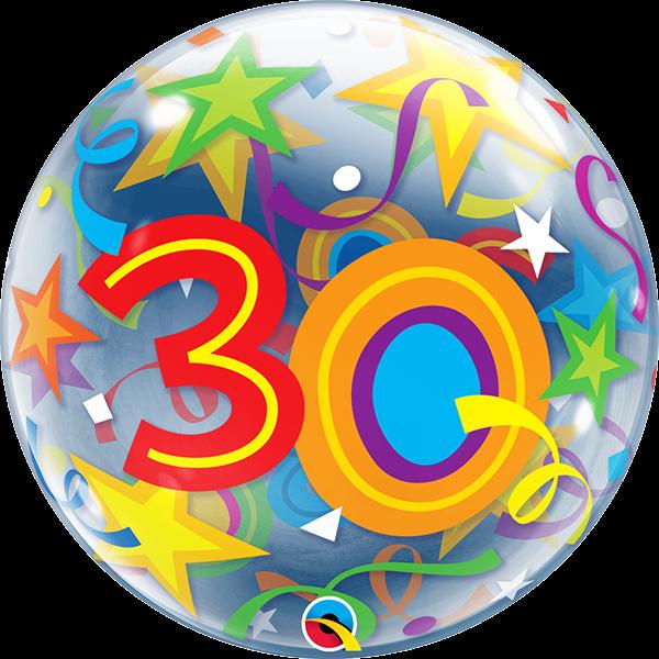 Bubble 30 Qualatex bunt, ca. 56 cm