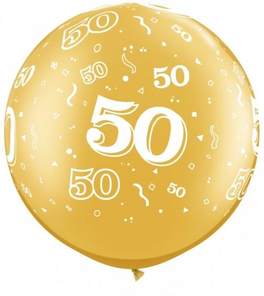 Riesenballon 50 gold, ca. 80 cm, Qualatex